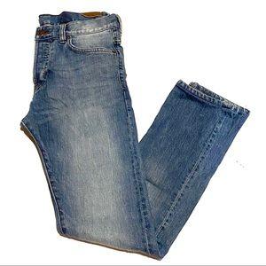 H&M Slim Straight Leg Light Wash Denim Jeans 31/32